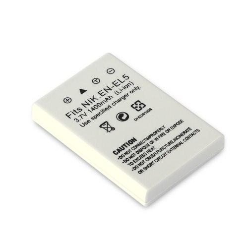 1pc EN-EL5 ENEL5 EN EL5 3.7V 1400mAh Camera Battery for Nikon Coolpix P3 P4 P80 P90 P5100 3700 4200 5200