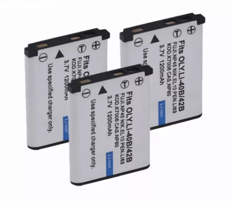 3pcs 1200mAh EN-EL10 FNP-45 D-Li63 CNP-80 LI-40B 42B K7006 Camera Battery for Nikon for OLYMPUS for FUJIFILM for Casio