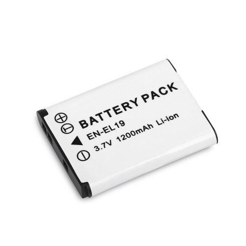 1pc 1200mAh 3.7V EN-EL19 ENEL19 Rechargeable Camera Battery Pack for Nikon S2500 S3100 S4100 EN EL19