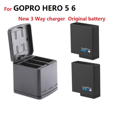 For Gopro HERO7 6 5 better cells battery Gopro batteries NEW 3-way LED Charger Box for GOPRO HERO 5 7 8 camera Accessories Clownfish