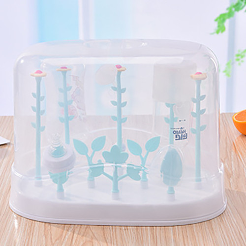 Baby Bottles  Drying Rack Baby Feeding Bottle Nipple  bottle drying rack Flower Shape Dust Cover