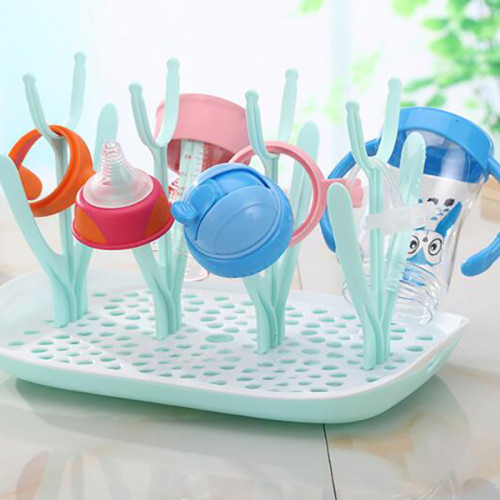 Newborn milk Bottles Drying Rack Nipple Storage Box Pacifier Brushes Baby milk Bottles Drainer dust-proof YHZ002