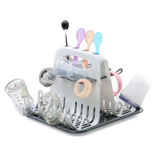 Milk Bottle Drying Rack Bottle Cup Holder Bottle Tree Foldable Drying Rack Portable Baby Pacifier Feeding Cup Holder BPA FREE