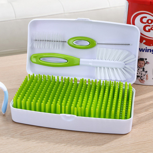 Baby Bottle Drying Rack Large Kids Dish Accessories Dryer &Bottle Brushes Baby Pacifier Feeding Cup Holder Deluxe Drying Station