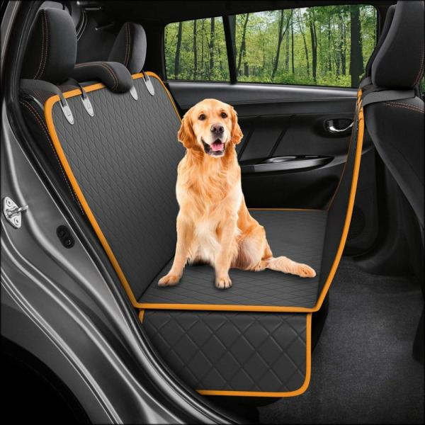 Dog Back Seat Car Cover Protector Waterproof Scratchproof Nonslip Hammock for Pet, Against Dirt and Pet Fur Seat Covers
