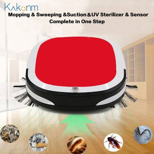 2000PA Rechargeable Smart Anti-Drop Robot Vacuum Cleaner Mopping Sweeping Suction Cordless Auto Dust Sweeper Machine