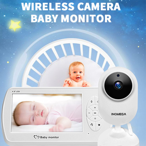 Wireless Video Color Baby Monitor 4.3 inch Baby Nanny Security Camera Babysitter Night Vision Temperature Monitoring