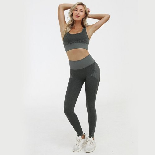Women's  Seamless Yoga Set Breathable Sportswear Push-up Fitness Clothing Sports Bra Pants Leggings Gym Sports suit Female 2020