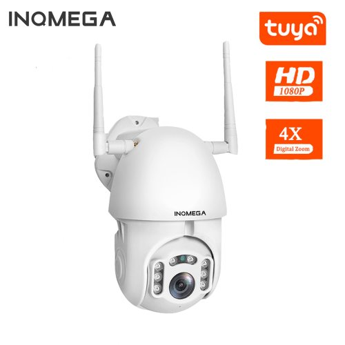1080P TUYA IP Camera WiFi Wireless PTZ Speed Dome Camera Outdoor Security Surveillance Camera Support Google Home Alexa