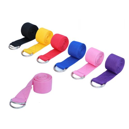 Women Yoga Stretch Strap Multi-Colors D-Ring Belt Fitness Exercise Gym Rope Figure Waist Leg Resistance Fitness Bands Yoga Belt
