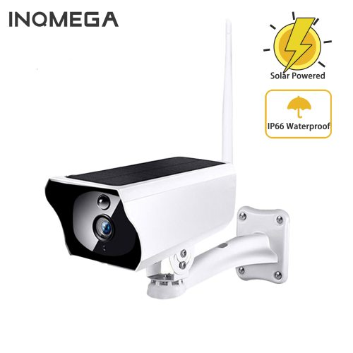 Solar Powered WiFi IP Camera 1080P HD Outdoor Charging Battery Wireless Security Camera PIR Bullet Surveillance CCTV