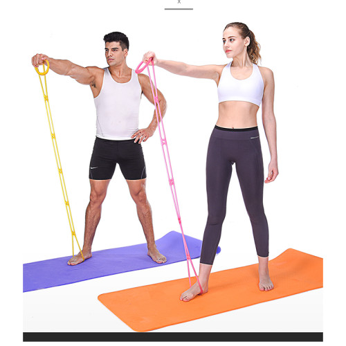 Yoga Resistance Band 7 Holes Silicone Fitness Pull Rope Body Training Tools