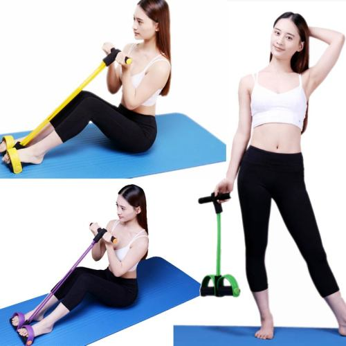 Free Shipping Gym Yoga Fitness Gear Leg Pull Pedal Exerciser Resistance Bands Weight Loss Training Household