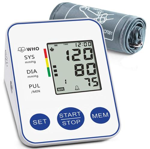 Automatic Digital Blood Pressure Monitor Upper Arm LCD Blood Pressure Monitors with Large Cuff Home BP Heart Rate Pulse Meter