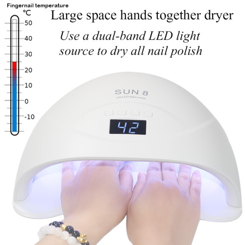 84/54/24w UV Lamp LED Nail Lamp Nail Dryer for All Gels Sun Varnish Lamp Dryer Infrared Sensing Timer LCD Smart Display Manicure