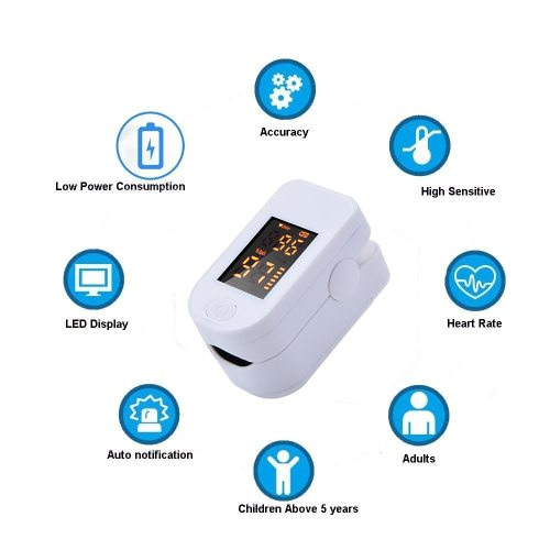 Blood Oxygen Monitor Finger Pulse Oximeter Oxygen Saturation Monitor Home Health (without Battery)
