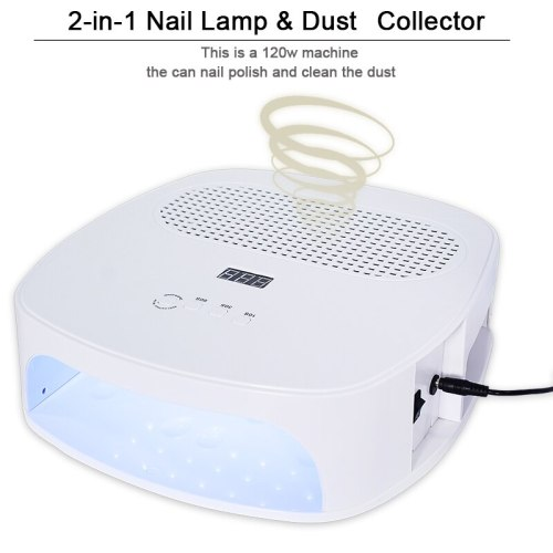 120WStrong Power Nail Lamp & Nail Dust Collector Two In One Art Salon nail lamp and Collector Vacuum Cleaner Nail Manicure Tools