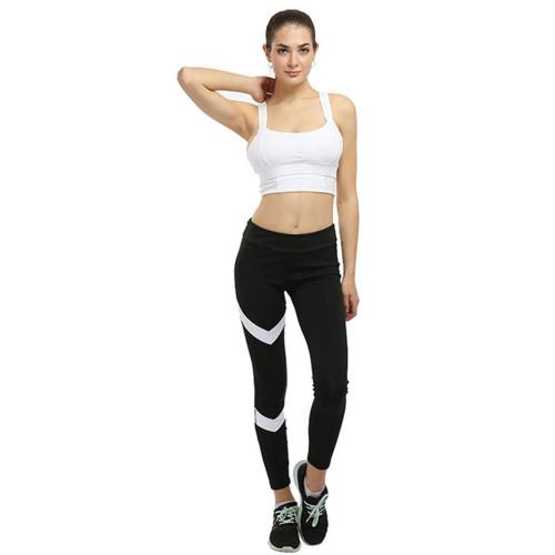 Yoga Pants Women Leggings S-XL Slim Stretch Sport Yoga Leggings Running Tights Gym Training Leggins Sportswear Striped Pants