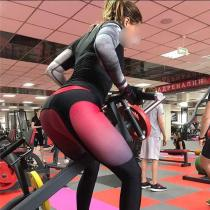 Yoga Pant Women Sport Leggings Fitness Tights Winter Black White Patchwork High Waist Pants Activewear outdoors pant female