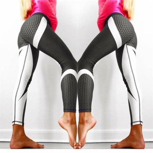 2018 Printed Yoga Pants Women High Waist Yoga Leggings for Fitness Sports Tight Pants Seamless Running Leggings Sport Trousers