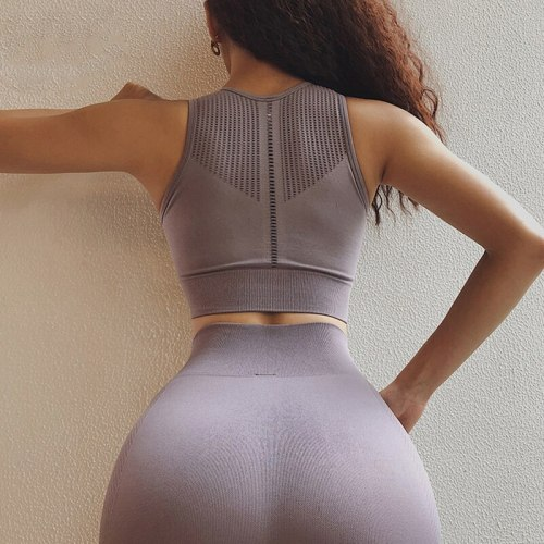 Fitness Bra Women Padded Sports yoga High Impact Running top Breathable Gym Crop Top Push Up Women Sport Tank Top Workout Bra