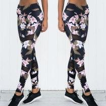 Womens Yoga Pants Fitness Leggings Sports Pants Workout Elastic Printing Pants Running Sweatpants Gym Sportswear leggings
