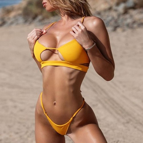 Sexy Bikinis 2020 Bikini Set Micro Biquini Thong Women Swimsuit Female Mini Swimwear Sexy Bathing Suit Hollow Out Swimming Suits