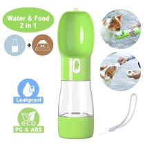 Portable Dog Water Bottle Dog Travel Water Bottle  Leak Proof Pet Water Bottle Dispenser for Walking Double Layer Bottle 23JunO2