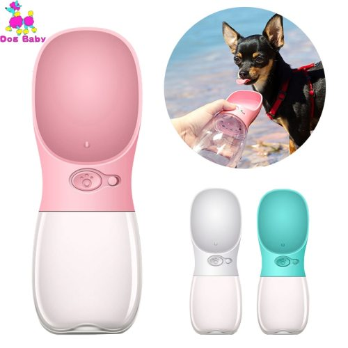 350ML 480ML 550ML Portable Pet Dog Water Bottle Travel Puppy Cat Drink Bowl Outdoor Outside Pet Feeder Dispensador Agua Perro