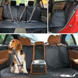 Dog Carrier Dog Car Seat Cover Waterproof Car Rear Back Mat Pet Travel Cat Dogs Cushion Protector With Middle Seat Armrest