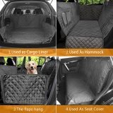 Dog Car Seat Cover 100% Waterproof Dog Seat Cover With Side Flaps Pet Seat Cover for Back Seat Black Carrier Hammock Convertible