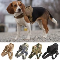 Tactical Dog Harness Military Patrol K9 Working Pet Dog Collar Harness Training Vest With Handle For Small and Large Dogs
