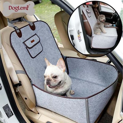 2 in 1 Dog Car Front Seat Cover Protector for Cars Carrier for Dogs Folding Cat Car Booster Seat Cover Anti-Slip Pet Car Carrier