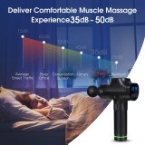 LCD Display Colorfu Massage Gun Deep Muscle Massager Muscle Pain Body Massage Exercising Relaxation Slimming Shaping Pain Relief