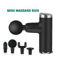 Mini Electric Massage Gun Deep Muscle Fascial Body Massager Gun Tissue Percussion Small Fitness Equipment Acid Relief Pain Relax