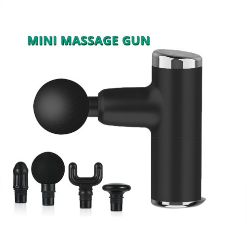 Mini Electric Massage Gun Deep Muscle Fascial Body Massager Gun Tissue Percussion Small Fitness Equipment Acid Relief Pain Relax