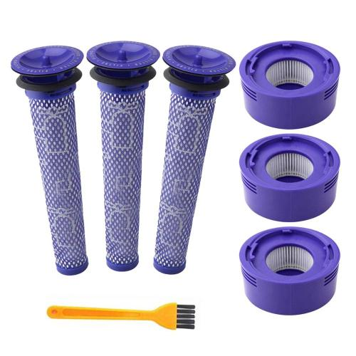 6 Pack Pre-Filters and 2 Pack HEPA Post-Filters Replacements Compatible Dyson V6 and Dyson V8 and V7 Cordless Vacuum Cleaners