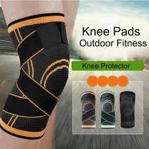 Pressurized Elastic Knee Pads for Joints Support Protection Outdoor Fitness Sport Basketball Cycling Knee Brace Pads Protector