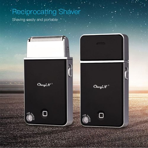 USB Rechargeable  Electric Shaver Razor Men Reciprocating Single Blade Cordless Beard Trimmer Barber Shaving Machine