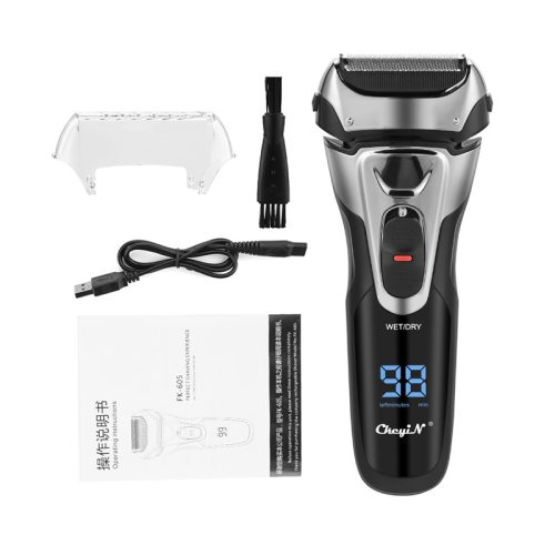 Waterproof  Shaver Razor  3D Triple Floating Blade Beard Trimmer  USB Rechargeable Shaving Machine Barbeador LED Display