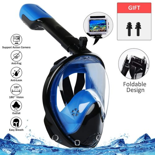 Adult Kid Foldable Full Face Diving Mask Anti-Fog Snorkeling Underwater Scuba Swimming Mask Glasses Snorkel Dive Equipment