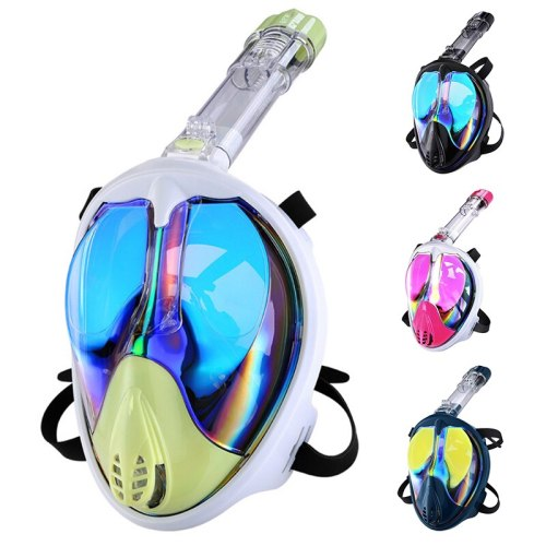 Diving Mask Scuba Underwater Anti Fog Wide View Swimming Snorkel Mask  for Kid Adult Full Face Snorkeling Mask Diving Equipment