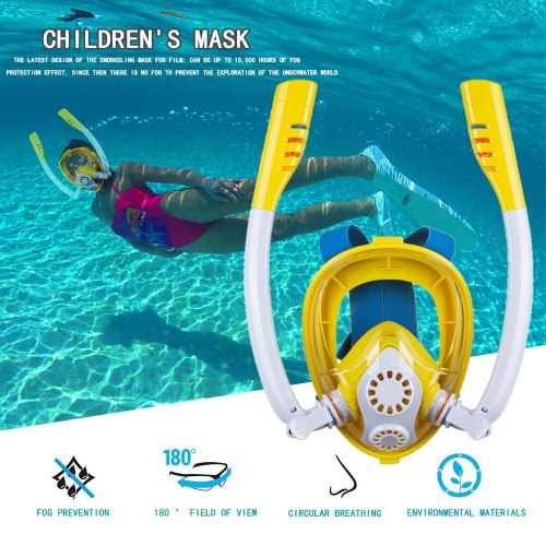 New Children Diving Mask Scuba Underwater Anti Fog Full Face Snorkeling Mask Boys Girls Kids Swimming Snorkel Diving Equipment