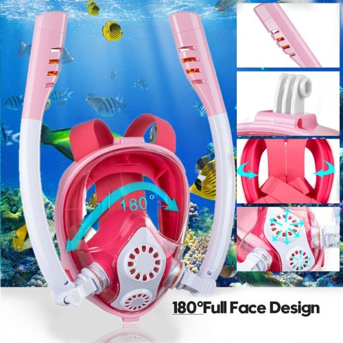 Child Scuba Diving Mask Full Face Snorkeling Mask Underwater Anti Fog Snorkeling Diving Mask For Swimming Spearfishing Dive