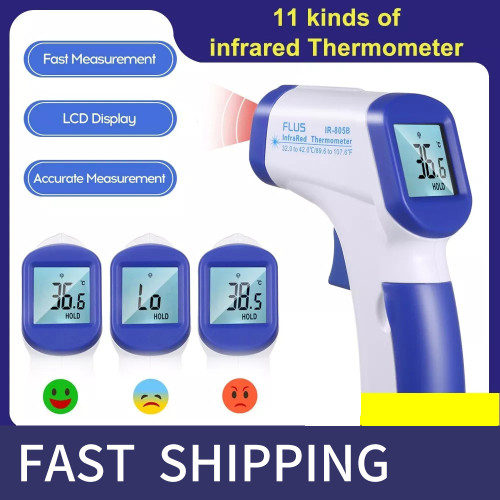 Non-contact Forehead Thermometer, infrared temperature meter Digital temperature gun LCD Display termometro