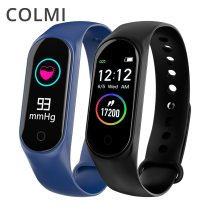 M4S Smart Bracelet Color-screen IP67 Fitness Tracker blood pressure Heart Rate Monitor Smart band For Android IOS phone