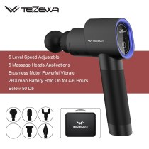 Electric Vibrate Muscle Massage Gun with 5 Tips TEZEWA Newest Hand Held Massger for Muscle Relaxtion and Exercise Relief