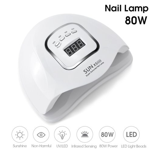 Sun X5 MAX Nail Gel Lamp 80W Nail Dryer For All Gel Varnish UV LED Ice Lamp With LCD Display For Nail DIY Manicure Tools