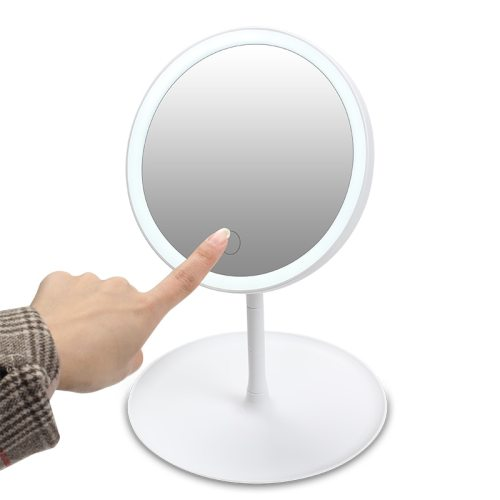 Makeup Backlit Mirror Light With Natural White LED Daylight Vanity 10X or Makeup Mirror Dimmable touch-sensitive LED mirror