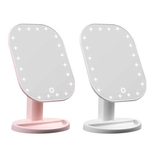LED Mirror Touch Dimmer Touch Screen Makeup Mirror Luxury Mirror With 20 LED Lights 180 Degree Adjustable Table MakeUp Mirror